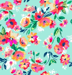 painted floral seamless print vector image vector image