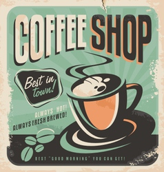 Retro poster for coffee shop vector