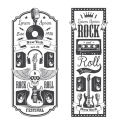 Two rock and roll music flayer covers vector image vector image