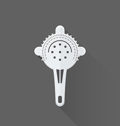 flat style barman strainer icon vector image vector image