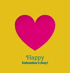 Greeting Card Happy Valentines Day with carved vector image vector image