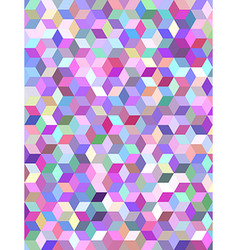 Multicolor 3d cube mosaic background design vector image vector image
