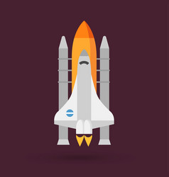 space shuttle icon vector image