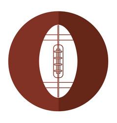 ball american football icon shadow vector image vector image