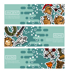 set of horizontal banners about ancient rome vector image