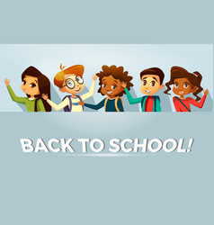 back to school kids poster template vector image