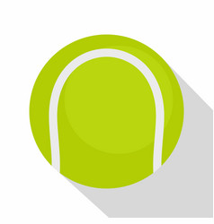 ball for playing tennis icon flat style vector image vector image