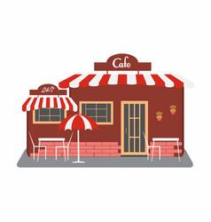 cafe street bistro building facade vector image