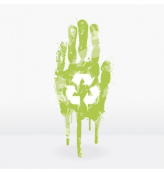 ecological hand design vector image vector image