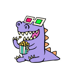 happy dragon anaglyph glasses and a box of vector image vector image