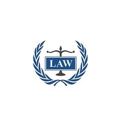 law emblem abstract logo vector image vector image