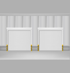 realistic detailed 3d template blank white roller vector image