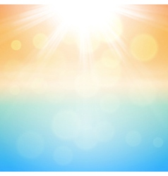 Sunny summer background vector image vector image