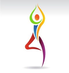 Yoga Pose 2 Logo vector image