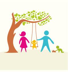A happy family life vector