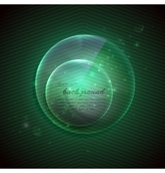 Abstract background with glass transparent sphere vector
