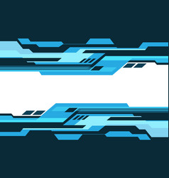 Abstract blue tone geometric cyber circuit white vector