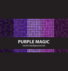 Abstract pattern set purple magic seamless vector