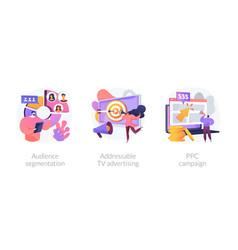 Advertising technologies concept metaphors vector