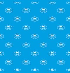 ambulance newborn pattern seamless blue vector image