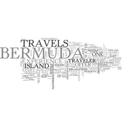 bermuda travels text word cloud concept vector image