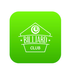 billiard icon green vector image