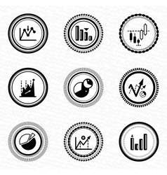 Black retro labels and badges business statistic vector image