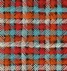 Boho seamless pattern vintage checkered background vector