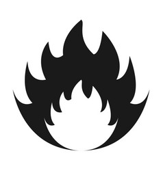 burning fire icon vector image