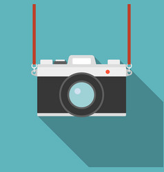 Camera icon flat design vector