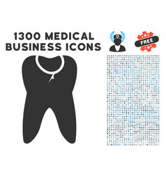 Caries tooth icon with 1300 medical business icons vector