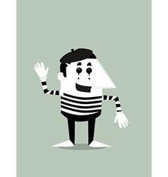 Cartoon mime vector