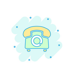 Cartoon phone icon in comic style telephone sign vector