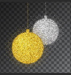 christmas decoration with sparkling light effect vector image