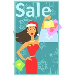 Christmas shopping design vector