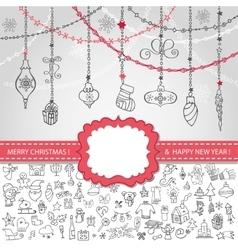 Christmas templateIconslabelballs vector image