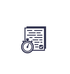 chronometer and results documents icon vector image