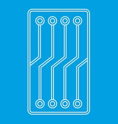 Circuit board icon outline vector