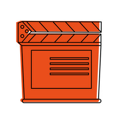 Clapperboard film icon image vector