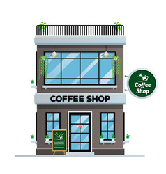 Coffee shop building vector