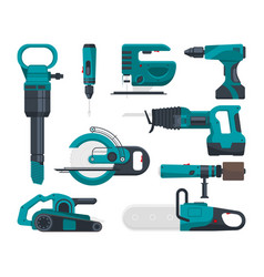 construction electro tools for repair vector image