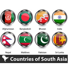 countries south asia vector image