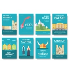Country Norway travel vacation guide of goods vector