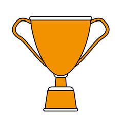 Cup trophy design vector