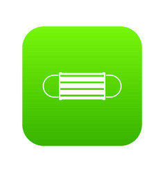 Disposable face mask icon digital green vector