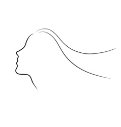 Female Head Half Face Sihlouette vector image