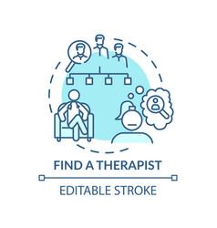 Find therapist concept icon vector