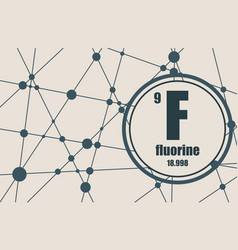 fluorine chemical element vector image