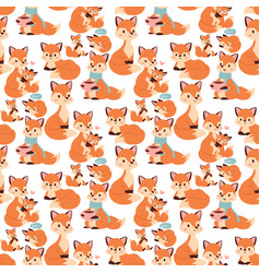 fox character doing different activities funny vector image