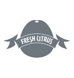 fresh citrus logo simple style vector image